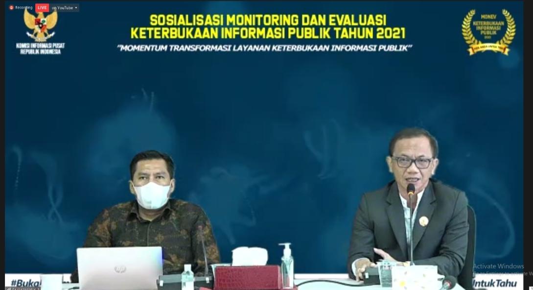Komisi Informasi Pusat Laksanakan Sosialisasi Monitoring dan Evaluasi